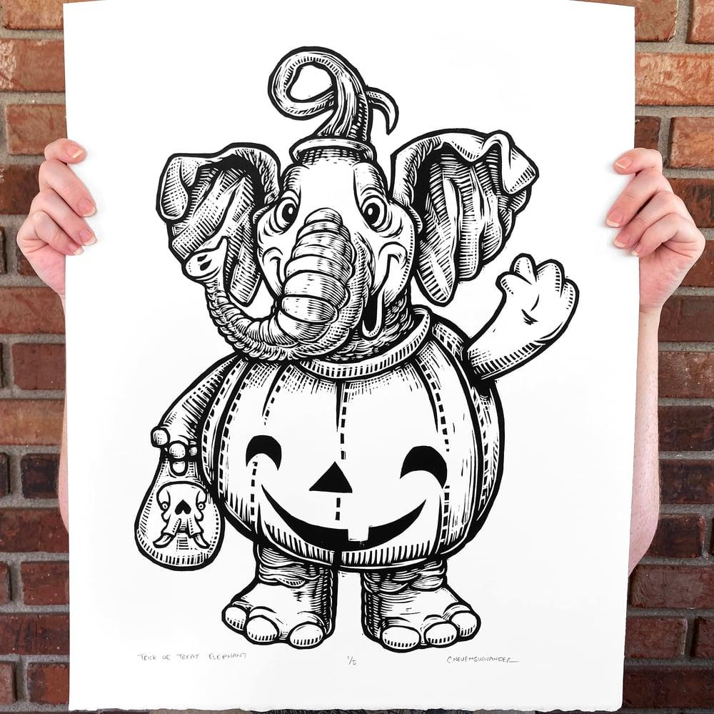 Trick or Treat Elephant Print