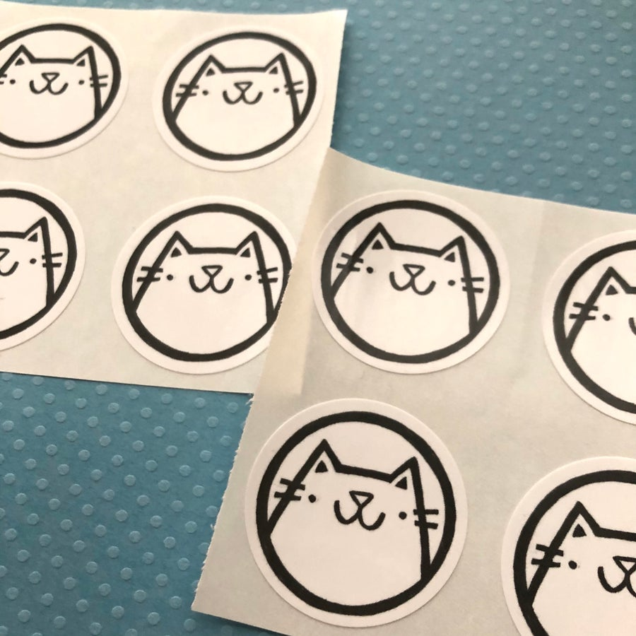 Image of happy cat stickers (small pack)