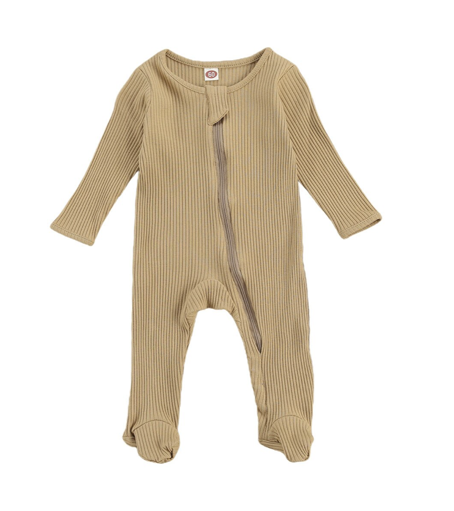 Ribbed Footed Romper