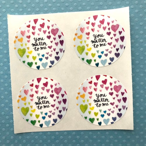 Image of you matter stickers (small pack)