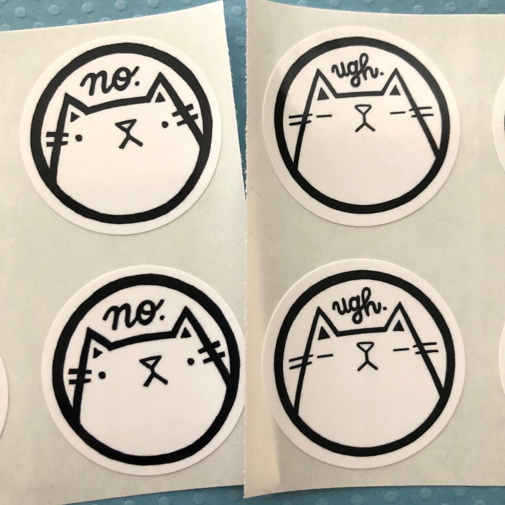 Image of ugh/no cat stickers (small pack)