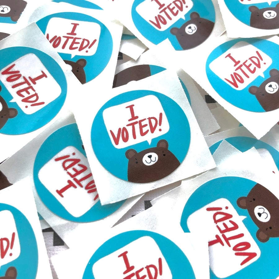 Image of I VOTED stickers (pack of two)