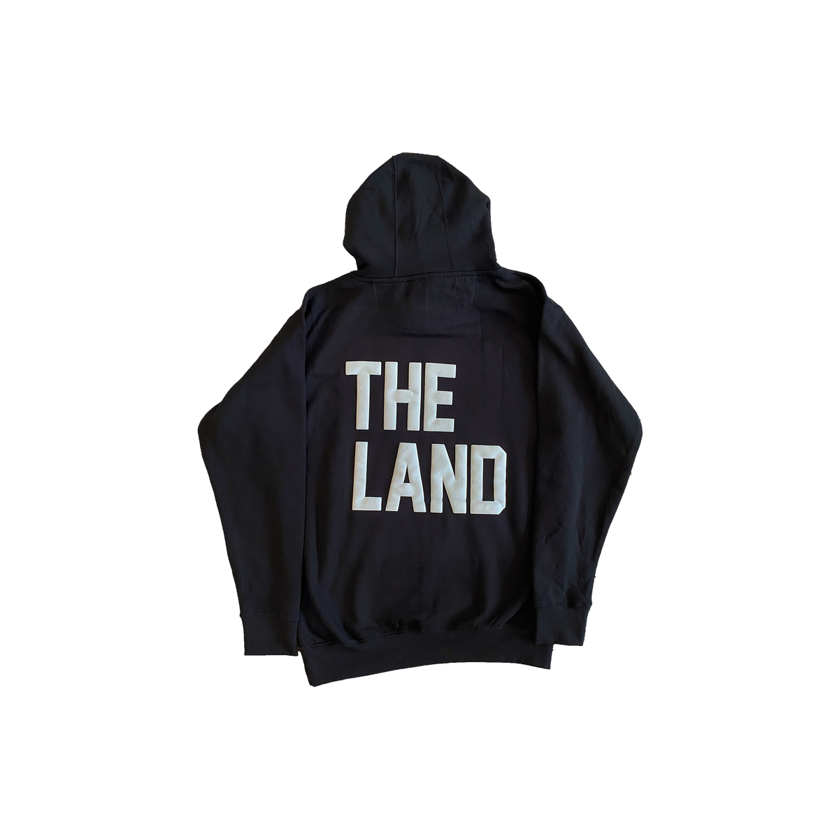 "The Land ""Bullseye"" Puff Print Black Hoodie"