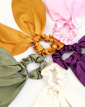Image of Silky Scrunchie Scarves (5 Colours) (Free Shipping!)