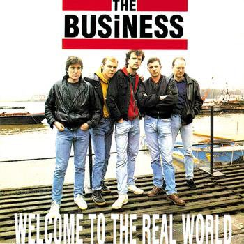 Image of *PRE-ORDER* The Business - Welcome to the Real World LP (clear vinyl)