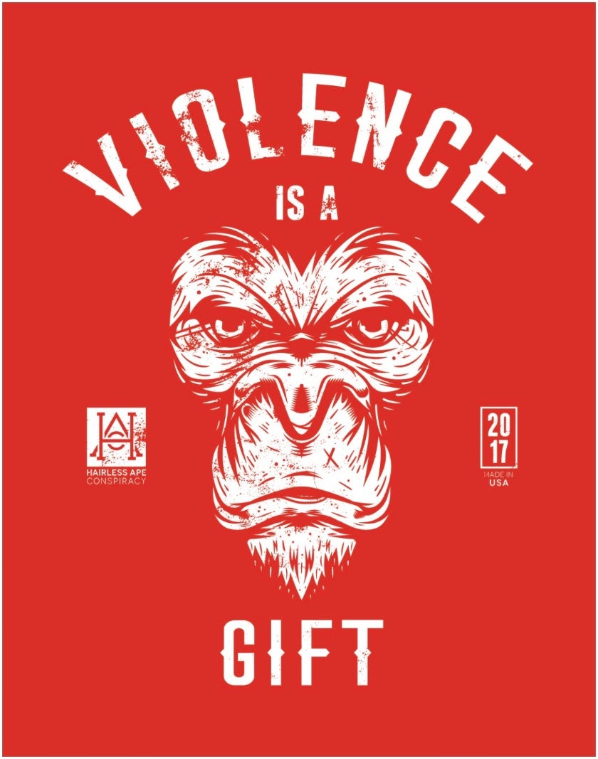 """Image of HAC - Violence is a Gift Poster 28""""x 22"""""""