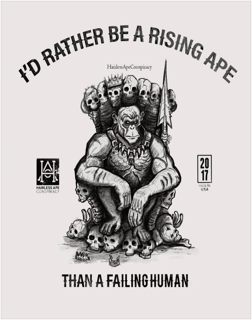 "Image of HAC Rising Ape Poster 28"" x 22"""