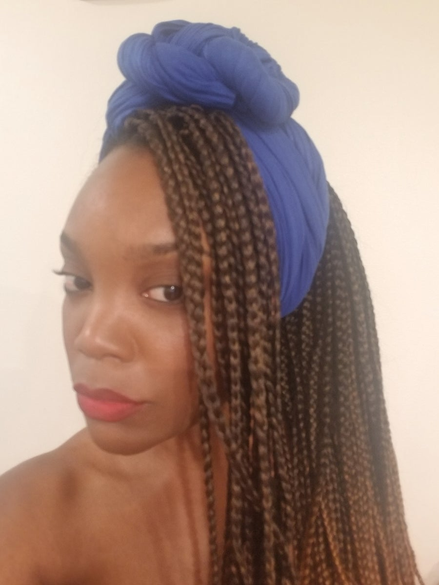 Image of COBALT RIBBED - HEADWRAP
