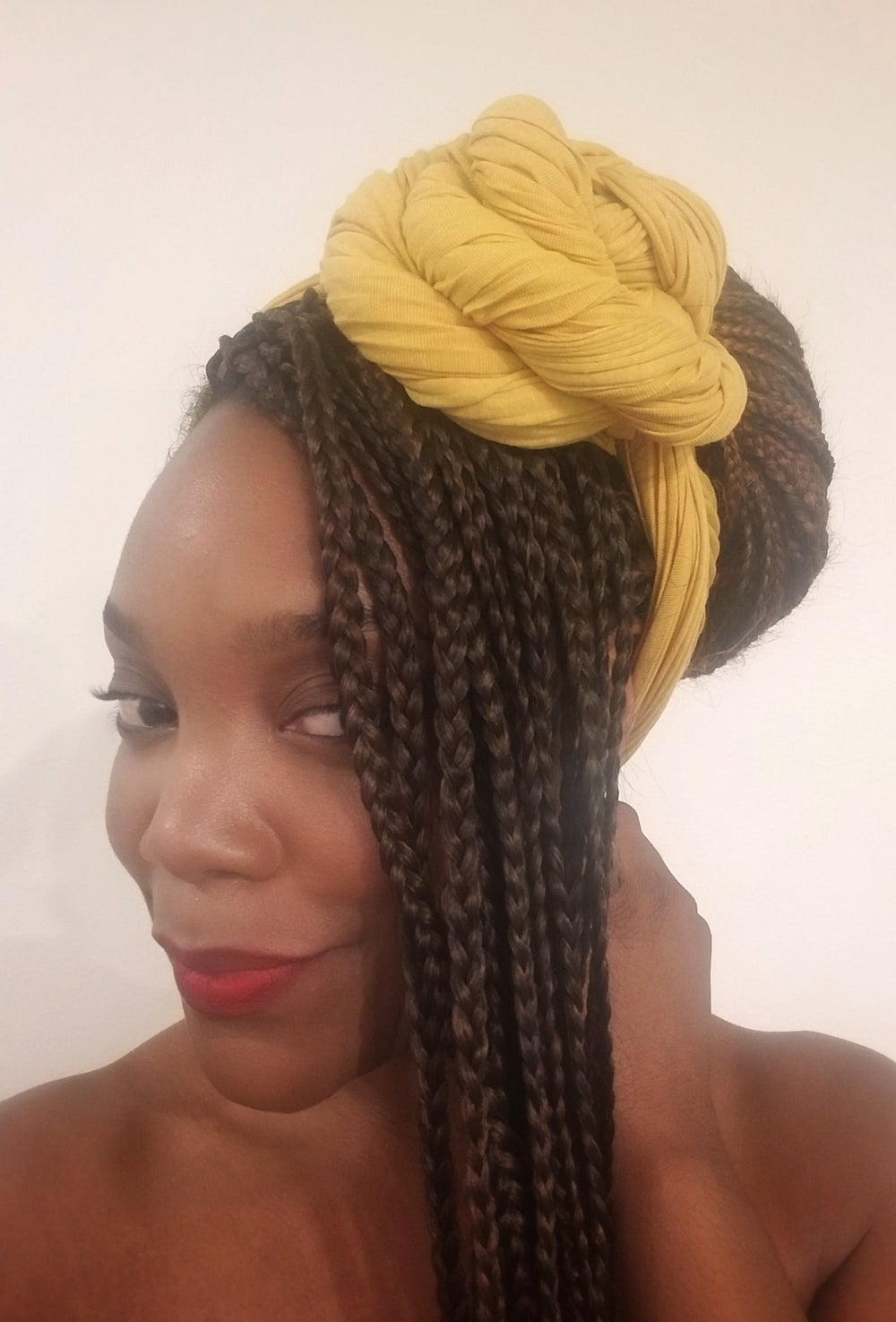 Image of MUSTARD SEED RIBBED - HEADWRAP