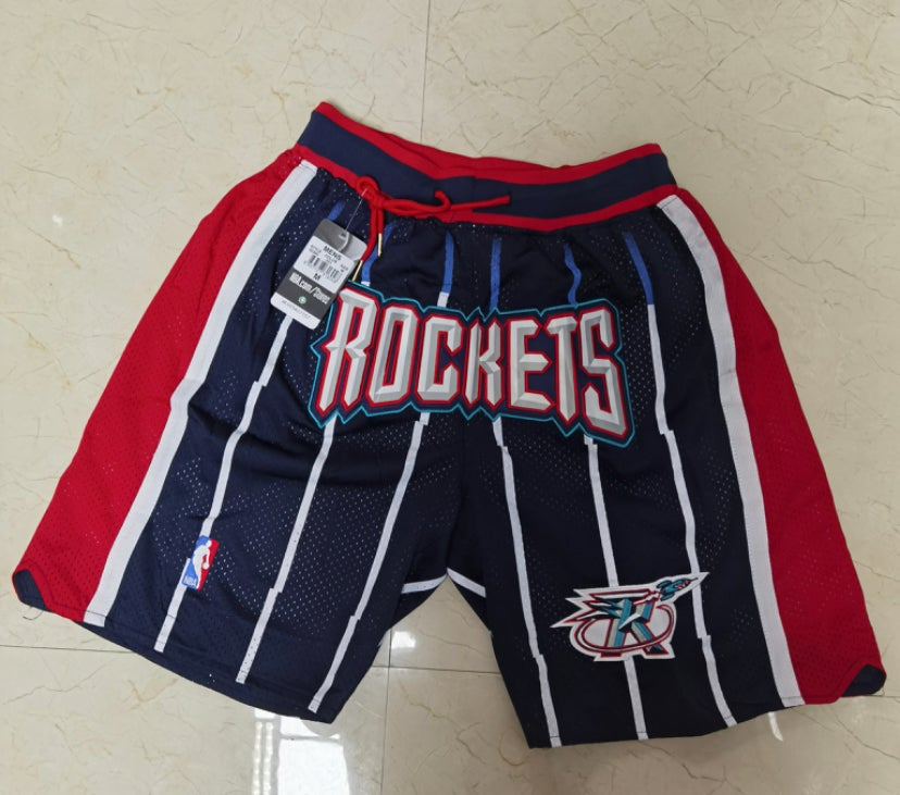 Image of Houston rockets stitched shorts