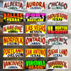 US Cities Jeepney Signs Stickers (Series 2)