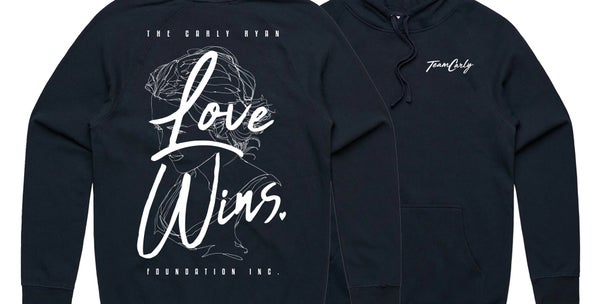Image of 'Love Wins' Team Carly Hoody (Navy)
