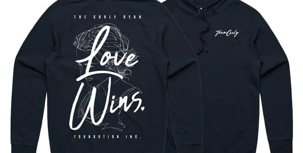 Image of 'Love Wins' Team Carly Hoody (Navy)