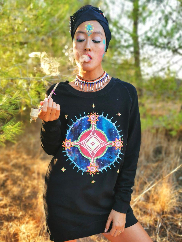 Image of Smoking Galaxy Sweatshirt   S