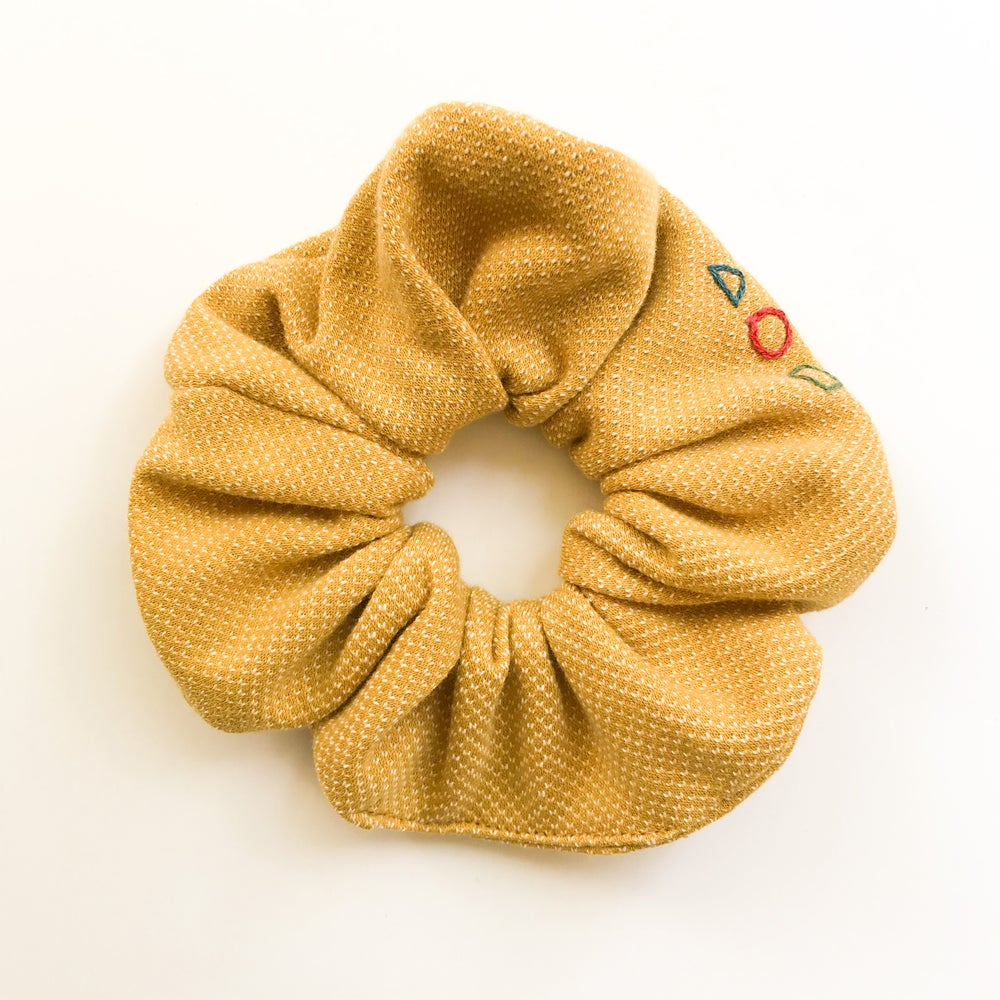 Image of Hand embroidered and handmade Scrunchies by Damaja from Organic Cotton fabric