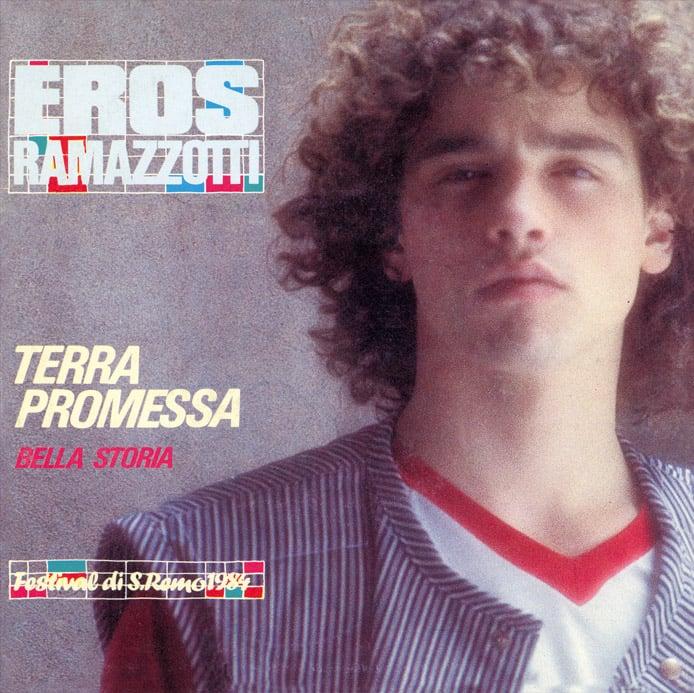 Image of COM155 // EROS RAMAZZOTTI - Terra Promessa / Bella Storia (VINILE 45 GIRI / 7 POLLICI)