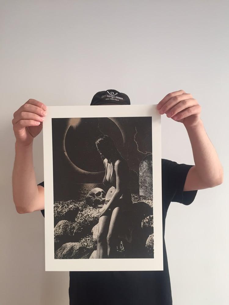 """Image of PRINT RISOGRAPHIE """" Un Eté Gothique"""" Julien Langendorff pour Le Gospel"""