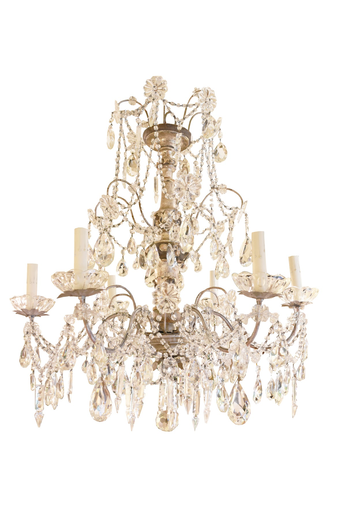 Image of 19th Century Italian Silvered Genovese Chandelier