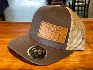 Leather Patch Trucker Hats