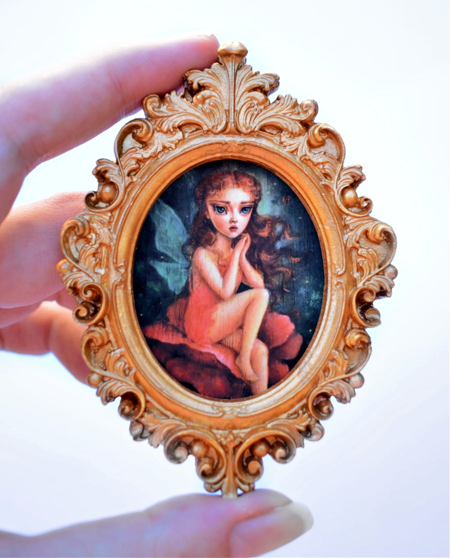 """Image of Miniature framed print """"The Fairy's Dream"""""""