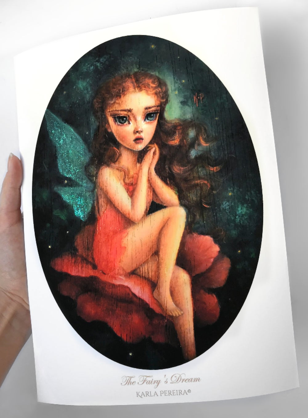"Image of ""The Fairy's Dream"" Hand Embellished Limited Edition print"