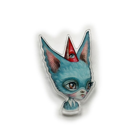 Image of Blue Bat Girl Pin