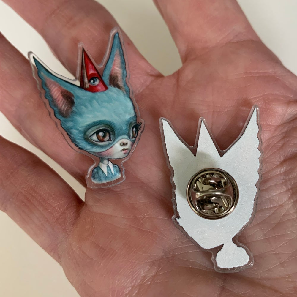Image of Blue Bat Girl Pin