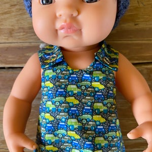 Image of Liberty Romper to suit 38cm Miniland doll - Hunters Trucks