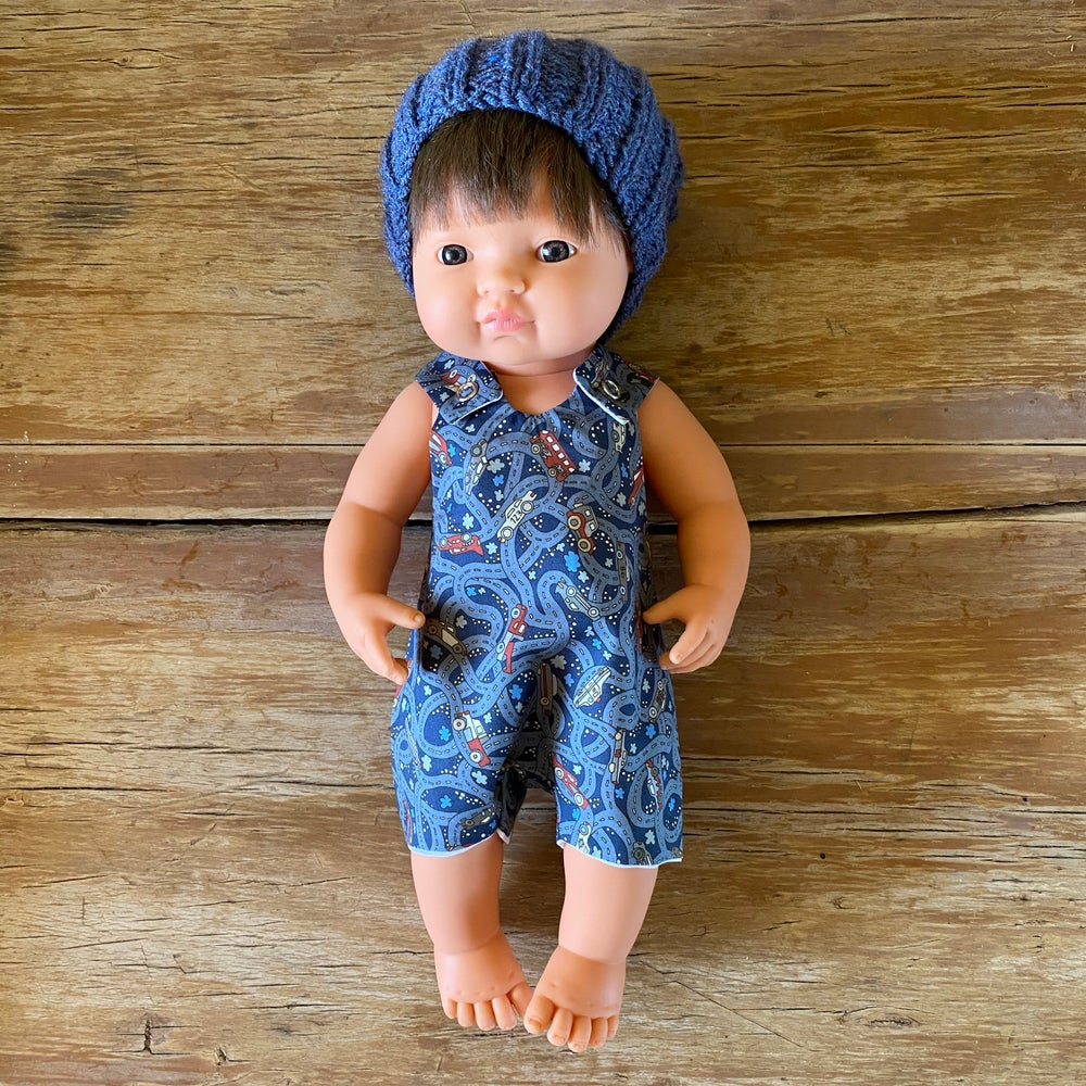Image of Liberty Romper to suit 38cm Miniland doll - 'Hackney Road'