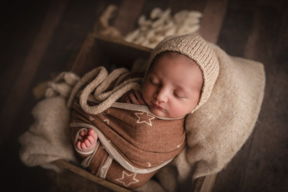 Image of Cozy Twinkle Wrap - brown