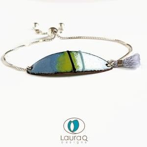 Enamel Lines on Oval bracelets