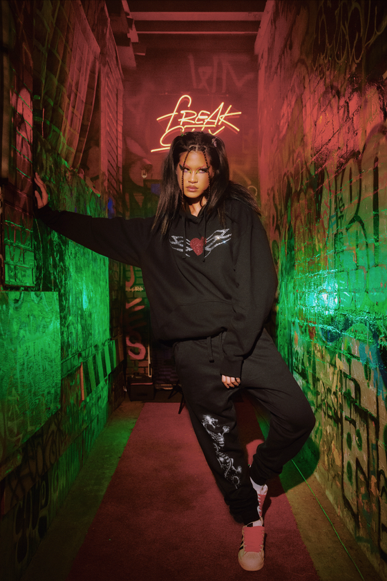 Image of Kemio X Freak City tribal heart unisex sweat suit