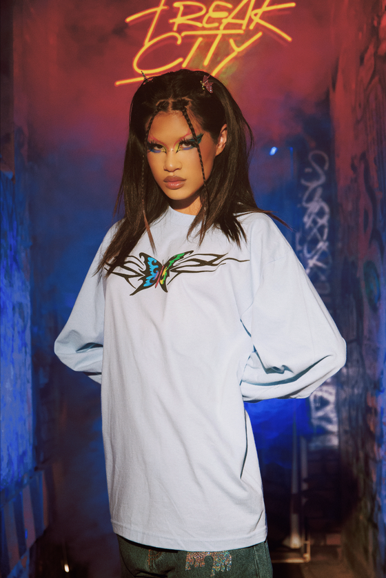 Image of Kemio X Freak City Cyber Butterfly Long Sleeve Shirt