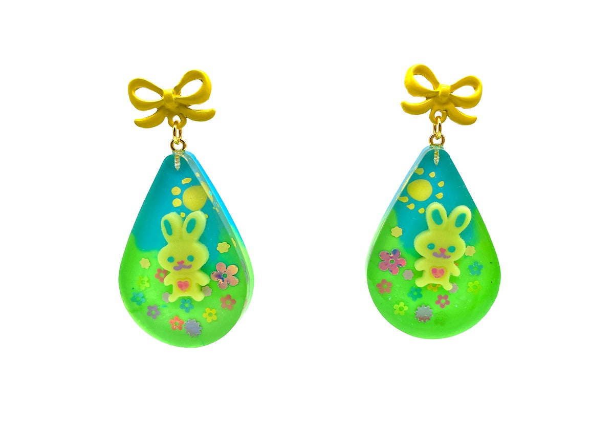 Image of Bunny Flower Fields Statement earrings