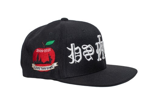 Image of Blck/Wht Upside Down Psycho SnapBack