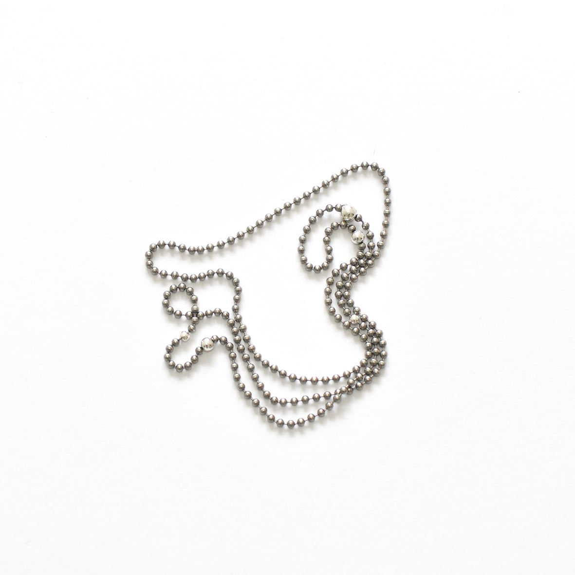 Image of STEEL+SILVER short necklace