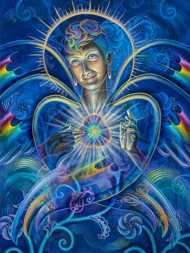 Image of 'Seraphibonacci' limited edition metallic poster