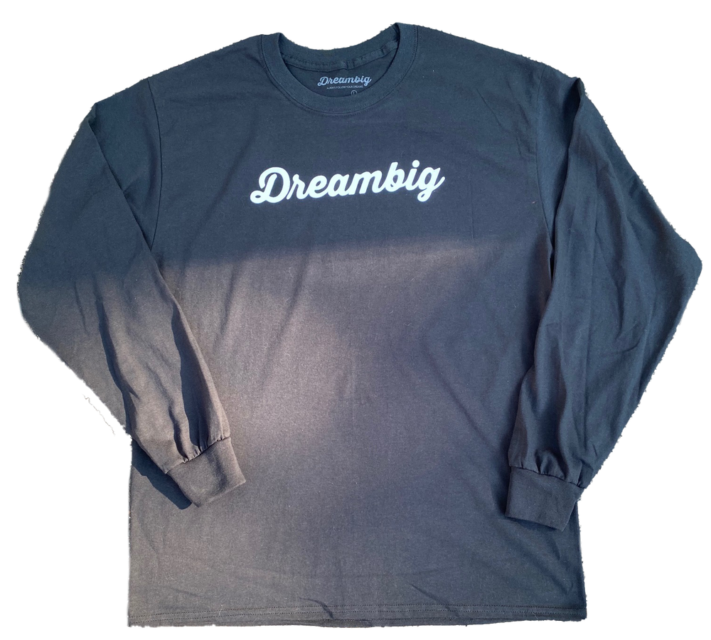 Image of CURSIVE LOGO L/S T-SHIRT - BLACK