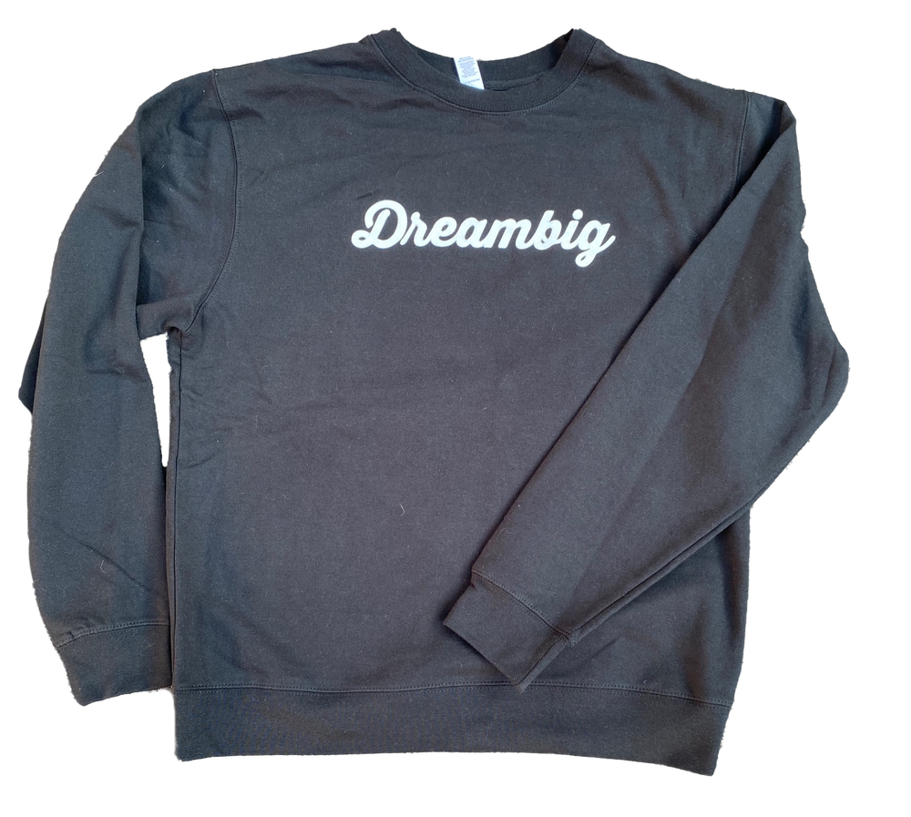 Image of CURSIVE LOGO CREWNECK - BLACK