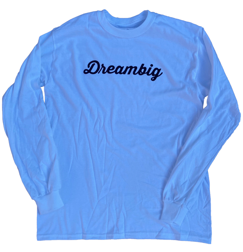 Image of CURSIVE LOGO L/S T-SHIRT - WHITE