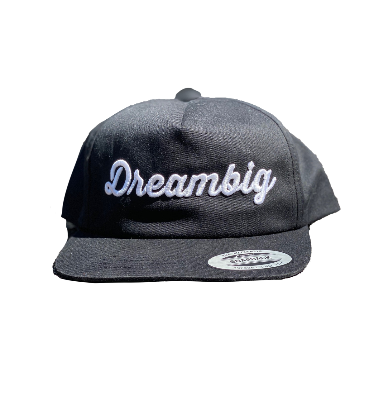 Image of  CURSIVE LOGO SNAPBACK HAT [BLACK]