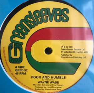 "Image of Wayne Wade / Bunny Lie Lie / Scientist - 'Poor & Humble' / 'Babylonian' (12"" vinyl reissue)"
