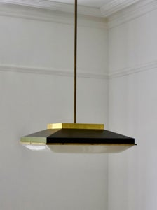 "Image of 25"" Square Ceiling Pendant, Stilnovo Italy"