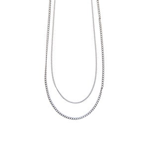 Image of Double rhodium necklace