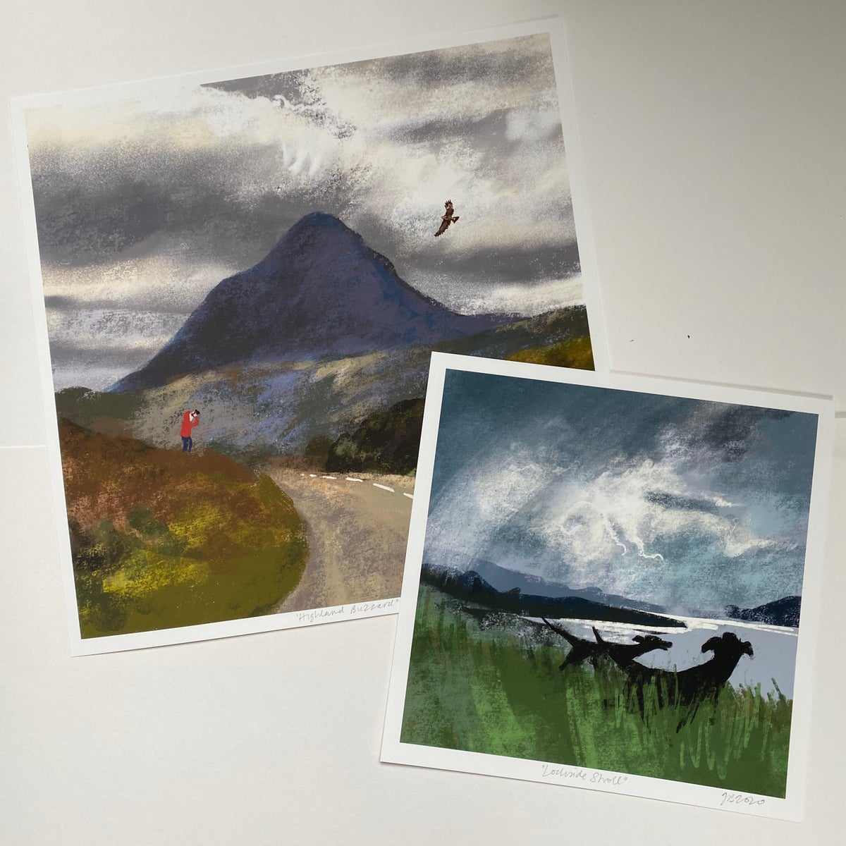 Image of 'Lochside Stroll' archive quality print