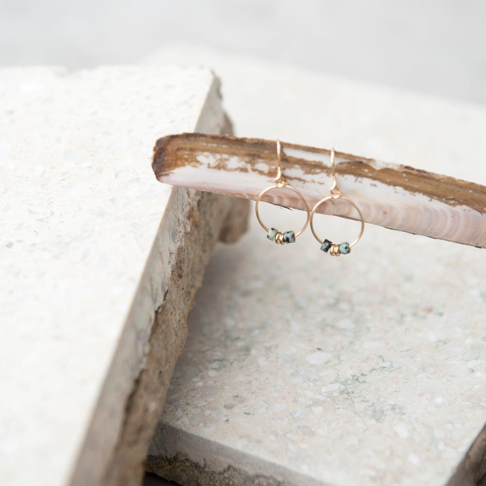 Image of Jasper round earrings