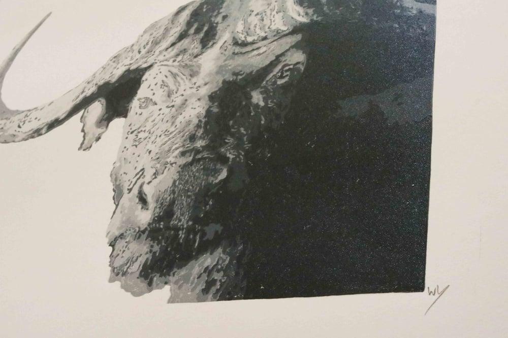 Image of Buffalo, Reduction Linocut