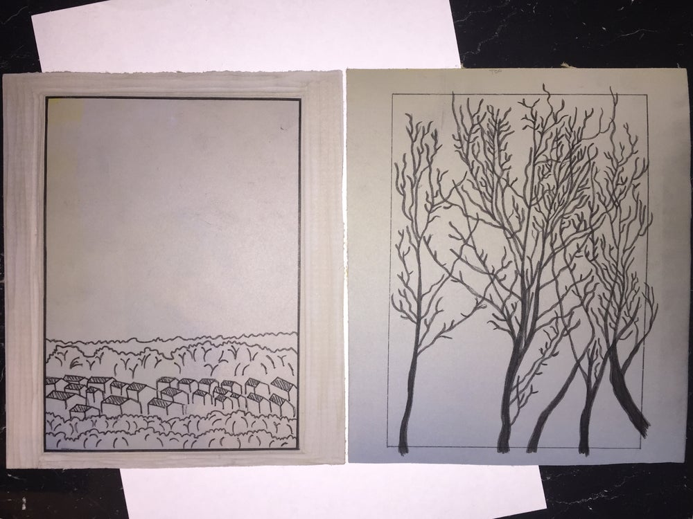 Image of The Old View - a multiplate, reduction linocut