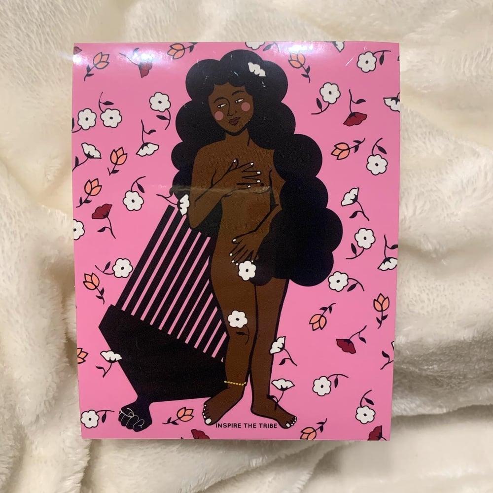 Image of 'Afro-Dite' Puzzle + Sticker Bundle 🤍