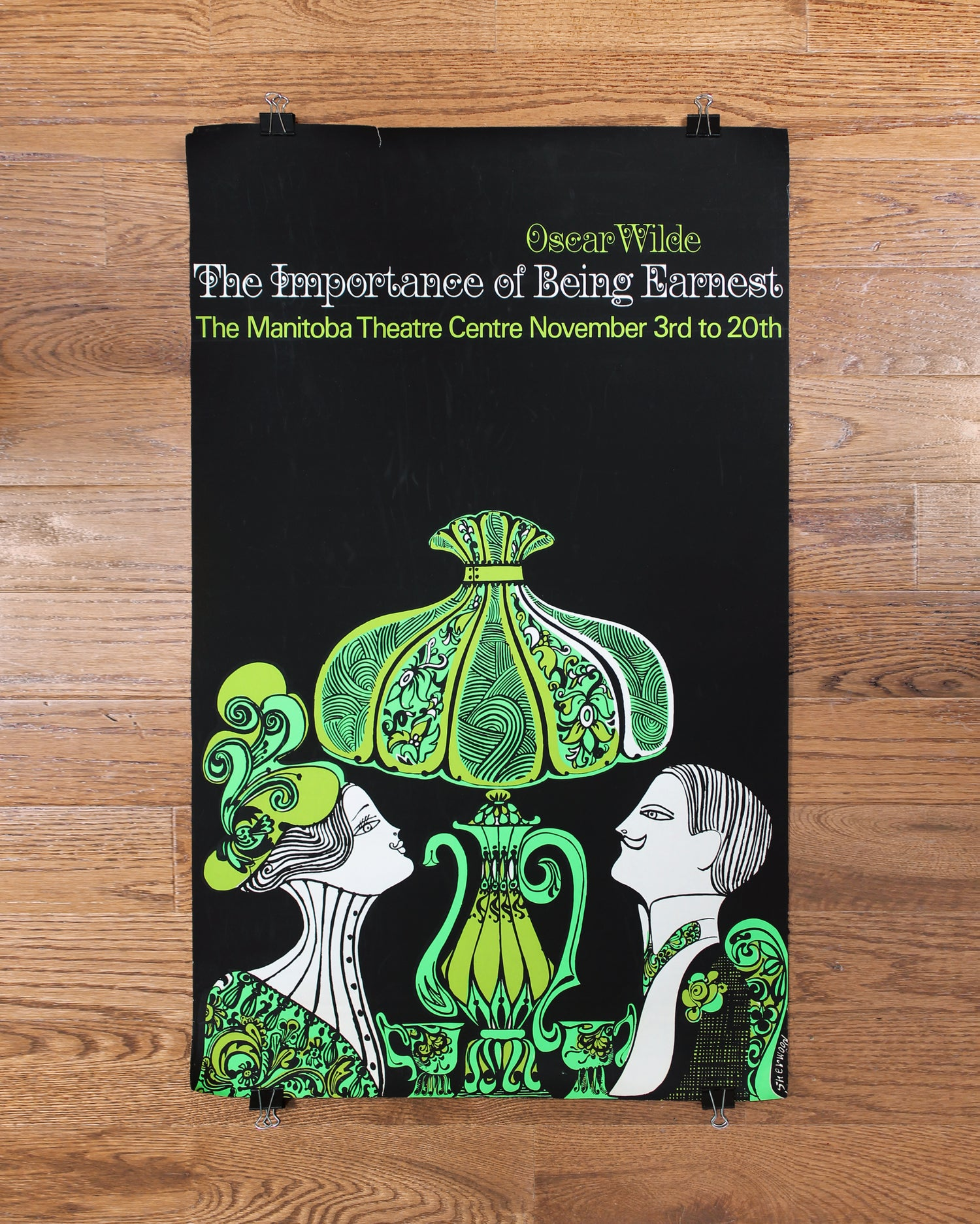 Original Vintage Poster Oscar Wilde The Importance of Being Earnest Play ca. 1965